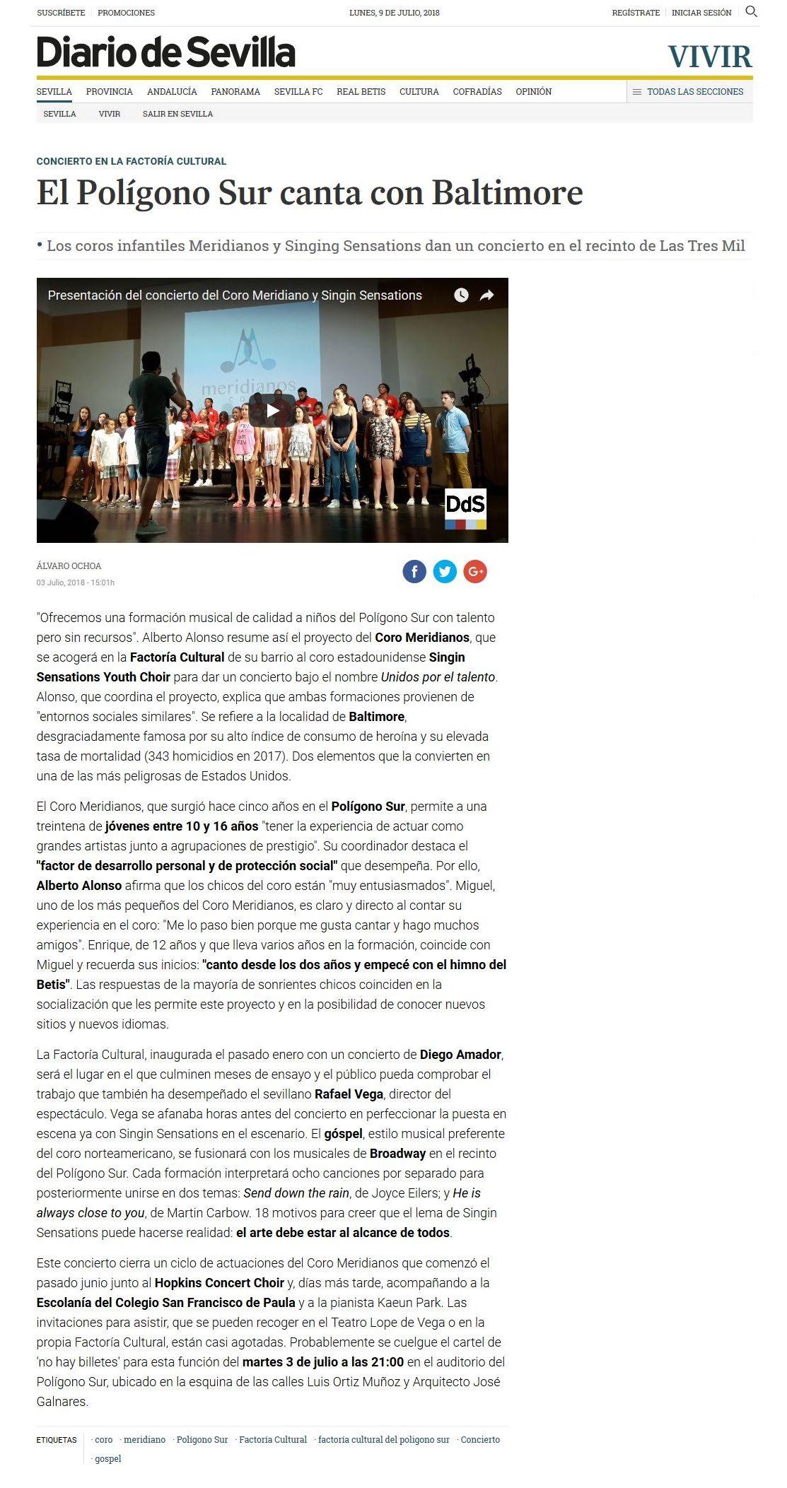 Ciclo Coral Meridianos Unidos por el Talento