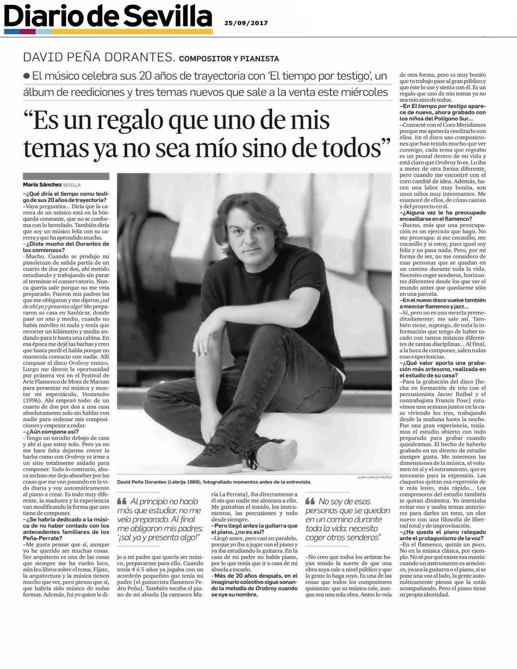 Entrevista a Dorantes